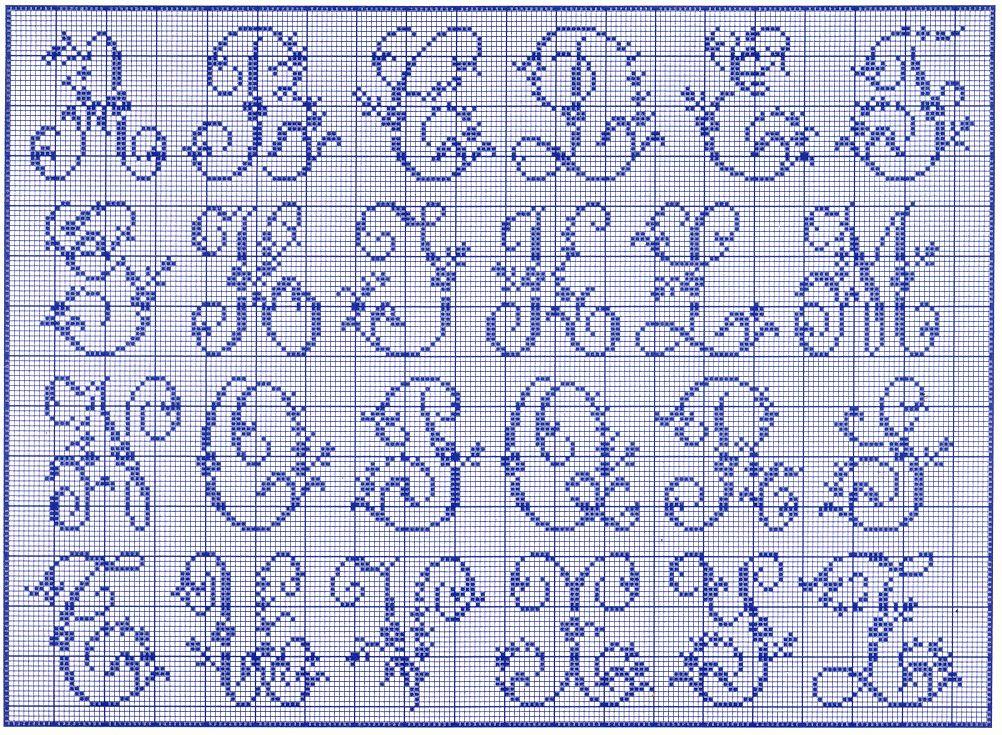 Conosciuto filet crochet alphabet patterns free   Alfabeto delle rose  TA56