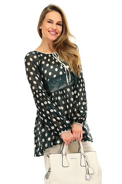 check-out 9e172 ca53c Blusa Larice\champignon Twin SET | TWIN SET Simona Barbieri ...