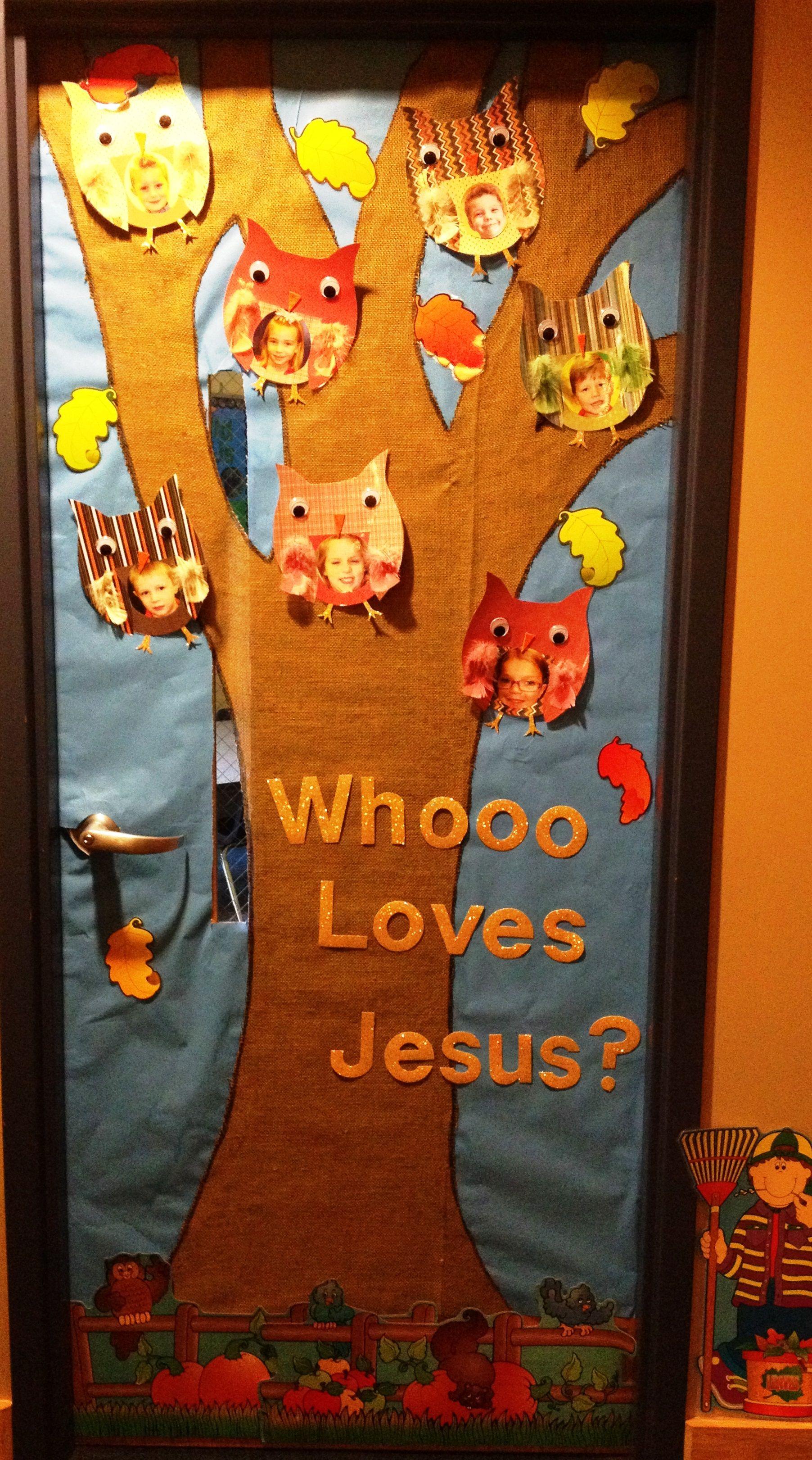 preschool door decorations for fall
