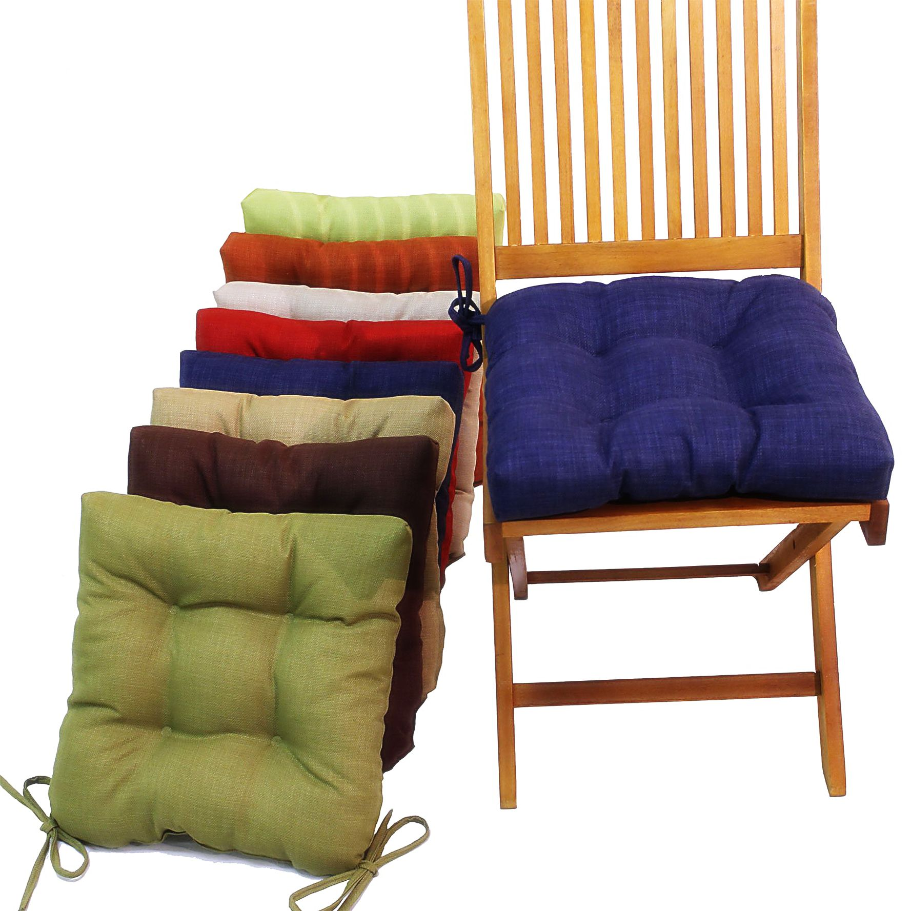 Canvas of Kitchen Chair Cushions with Ties Подушки для