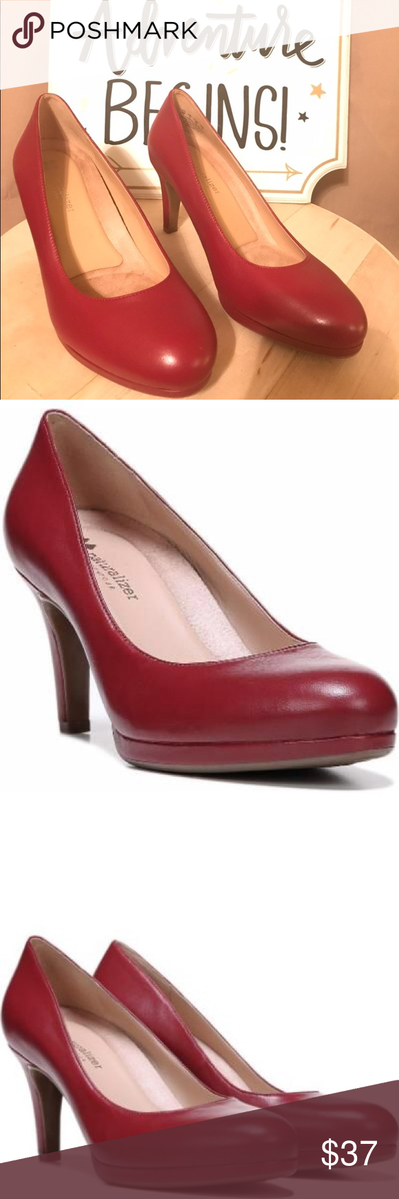 de0f4290df9 Naturalizer Red Platform Mid Heel Pumps 👠👠 Naturalizer