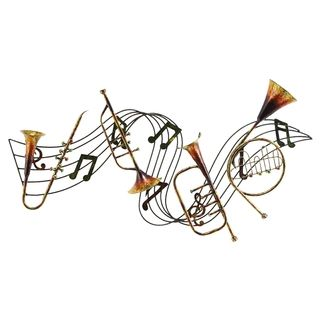 Metal Musical Inst Decor A Musical Wall Decor | Overstock™ Shopping - Great Deals on Accent Pieces