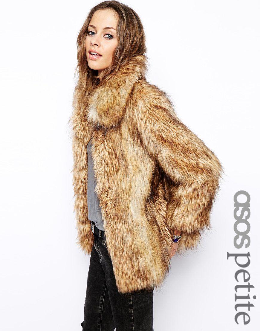 ASOS PETITE Vintage Faux Fur Coat | fashion favorites | Pinterest ...