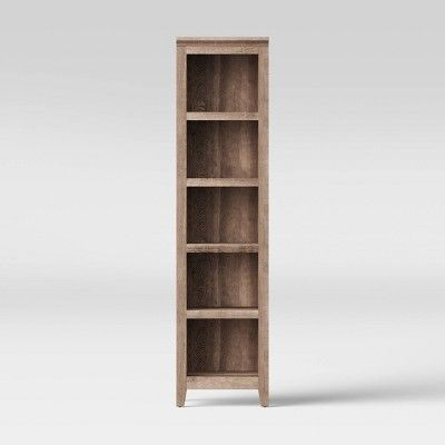 72 Carson Narrow Bookcase Light Brown Threshold Small Bookcase Bookcase Lighting Wood Bookcase