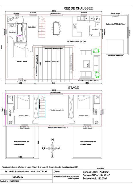 Maison De 130M2 maison contemporaine - plain pied - de 130 m2 | home style | pinterest