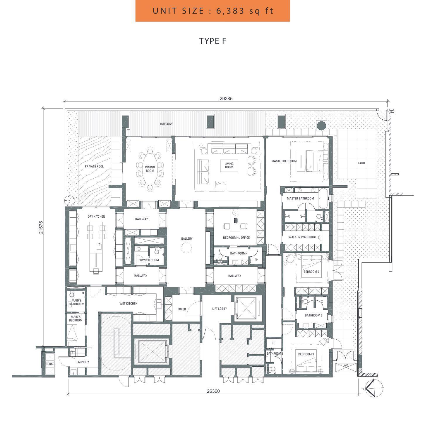 Pin On Floor Plan Condominium House Villa