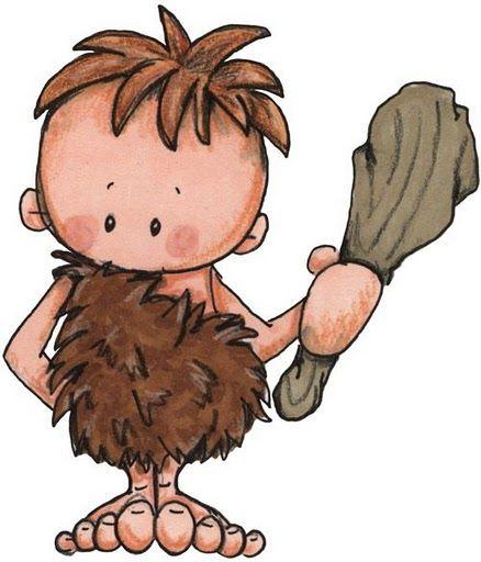 Resultado de imagen de dibujo hombre prehistorico