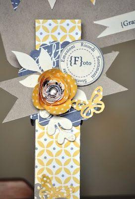 Embellished jumbo clothespin photo holder - Hobby di Carta - Il blog: HOME DECOR: Mollette Portafoto by Manu