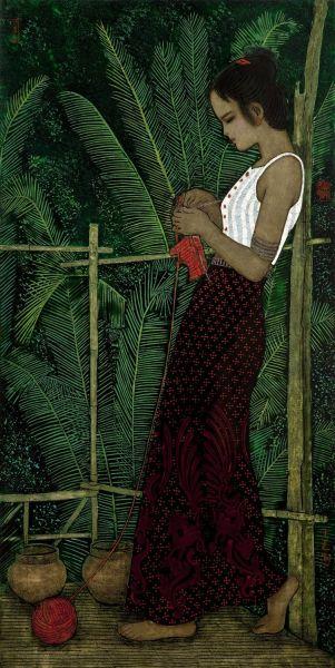 Girl in Sarong by Qiao Shiguang