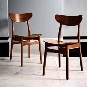 Café Dining Chair elmClassic Café Dining Chair elm Set de 4 chaises par Niels O Moller années 1960 Baxton Studio Sumner MidCentury Black Faux Leather...