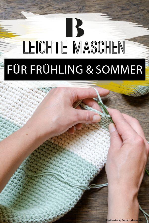 Leichte Maschen für Frühling und Sommer | Pinterest | Stricken und ...