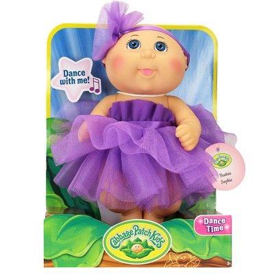 dc557718e6666 Cabbage Patch Kids Tiny Newborn Baby Doll - Purple Tutu - Blue Eyes ...
