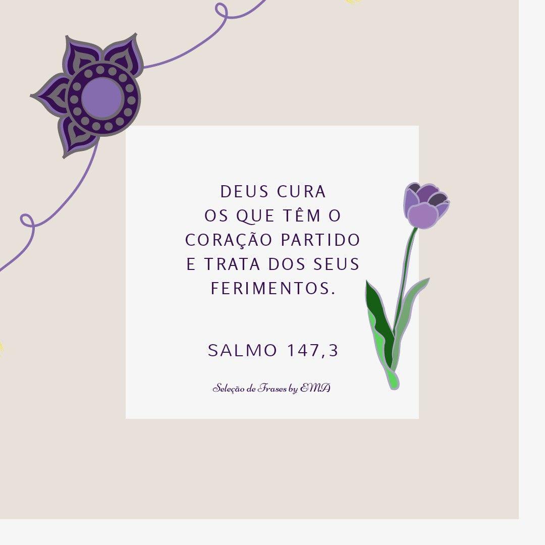 Pin de Eliana Alves em Versículos Salmo 147, Coração