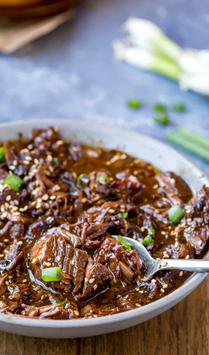 Slow Cooker Korean Beef - I Heart Eating