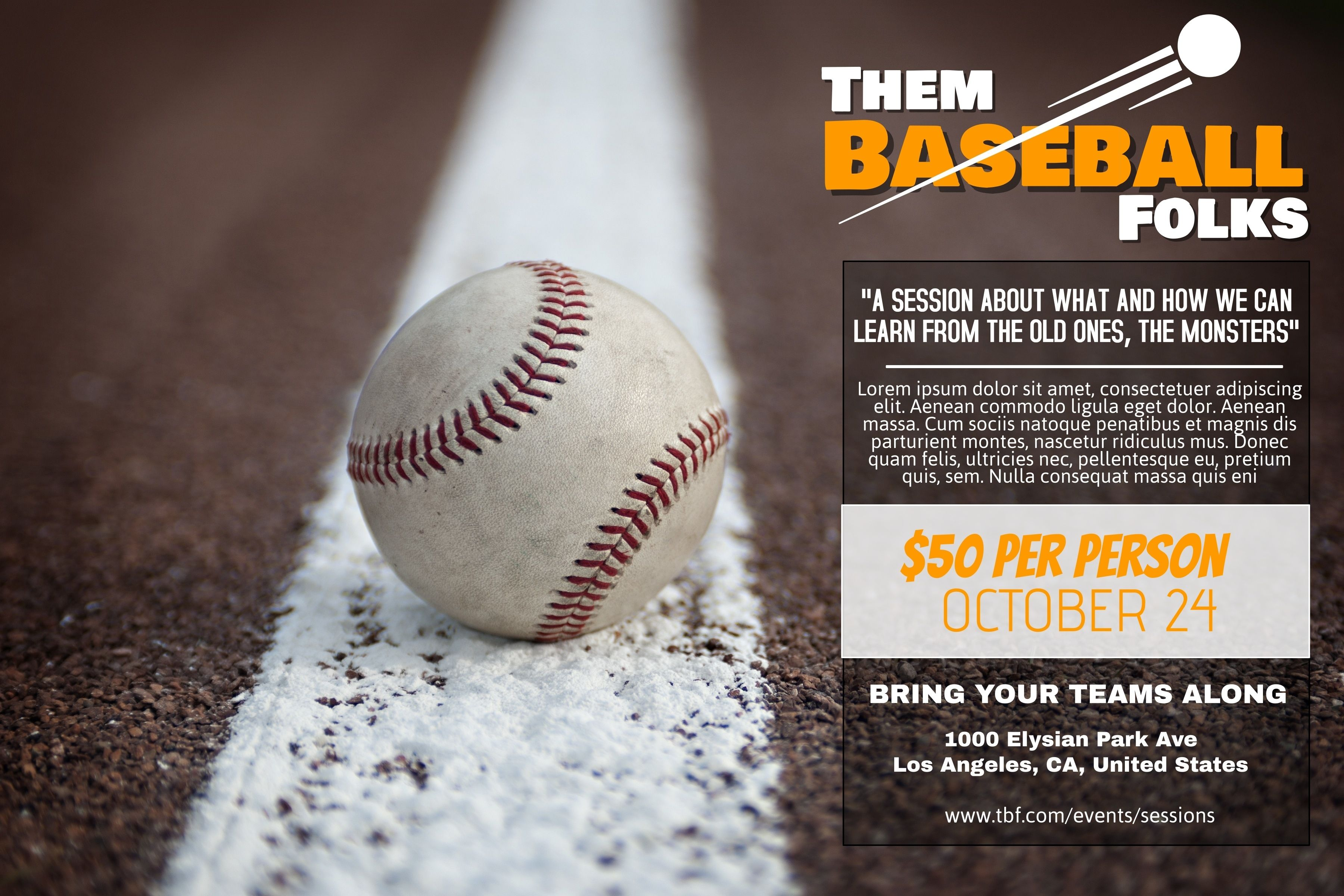 Baseball Flyer Social Media Post Template Poster And Banner Templates