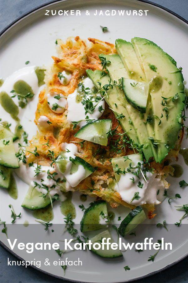 Vegane herzhafte Waffeln aus Kartoffeln #entreesrecettes