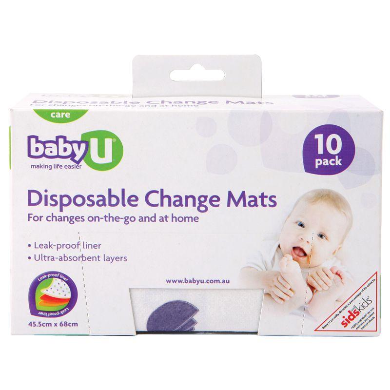 Baby U Disposable Change Mats 10 Pack Chemist Warehouse Baby