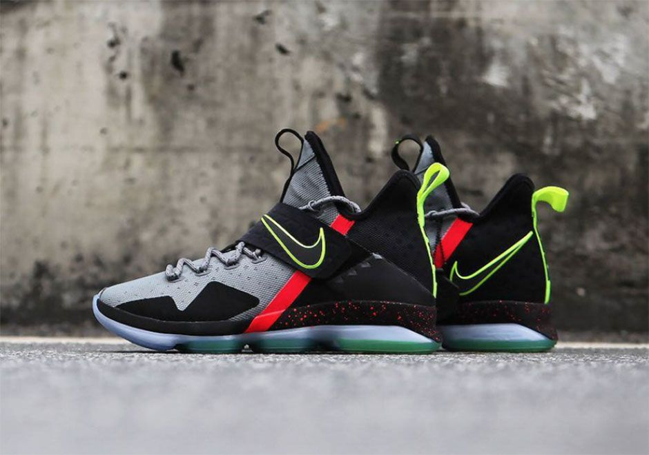 598bc345aa8 The Nike LeBron 14 Out Of Nowhere debuted during the Cavs VS. Warriors Christmas  Day game. Detailed photos of the upcoming colorway here