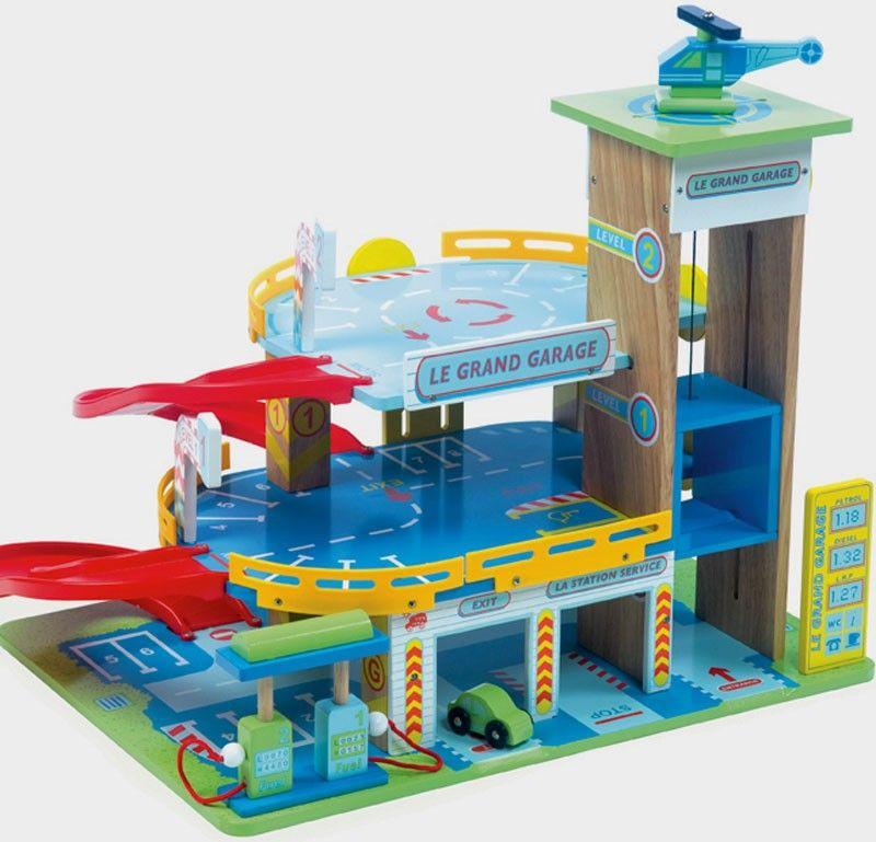 Un Grand Garage En Bois Peint De Trois étages De La Marque Le Toy Van Avec