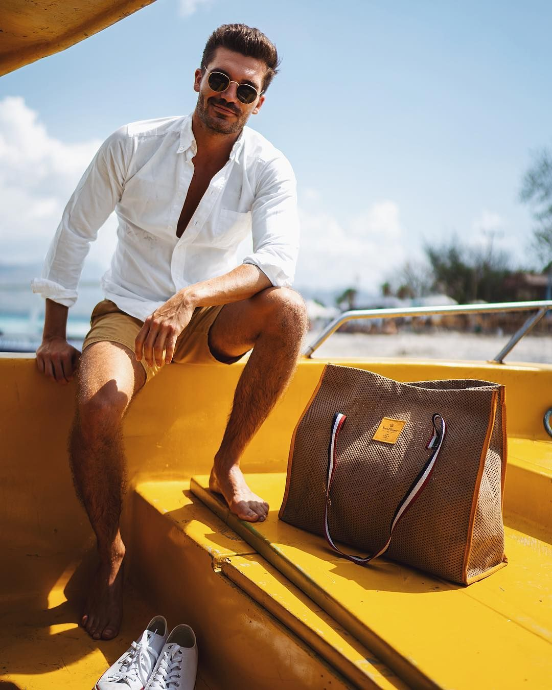 """0e2019cb6099 Justus Frederic Hansen on Instagram  """"Gili Tarawangan starter kit  swimming  trunks"""