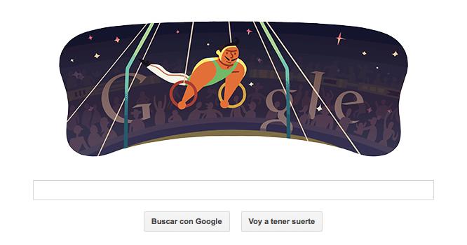 Doodle anillas masculino - Google apostando por #Londres2012
