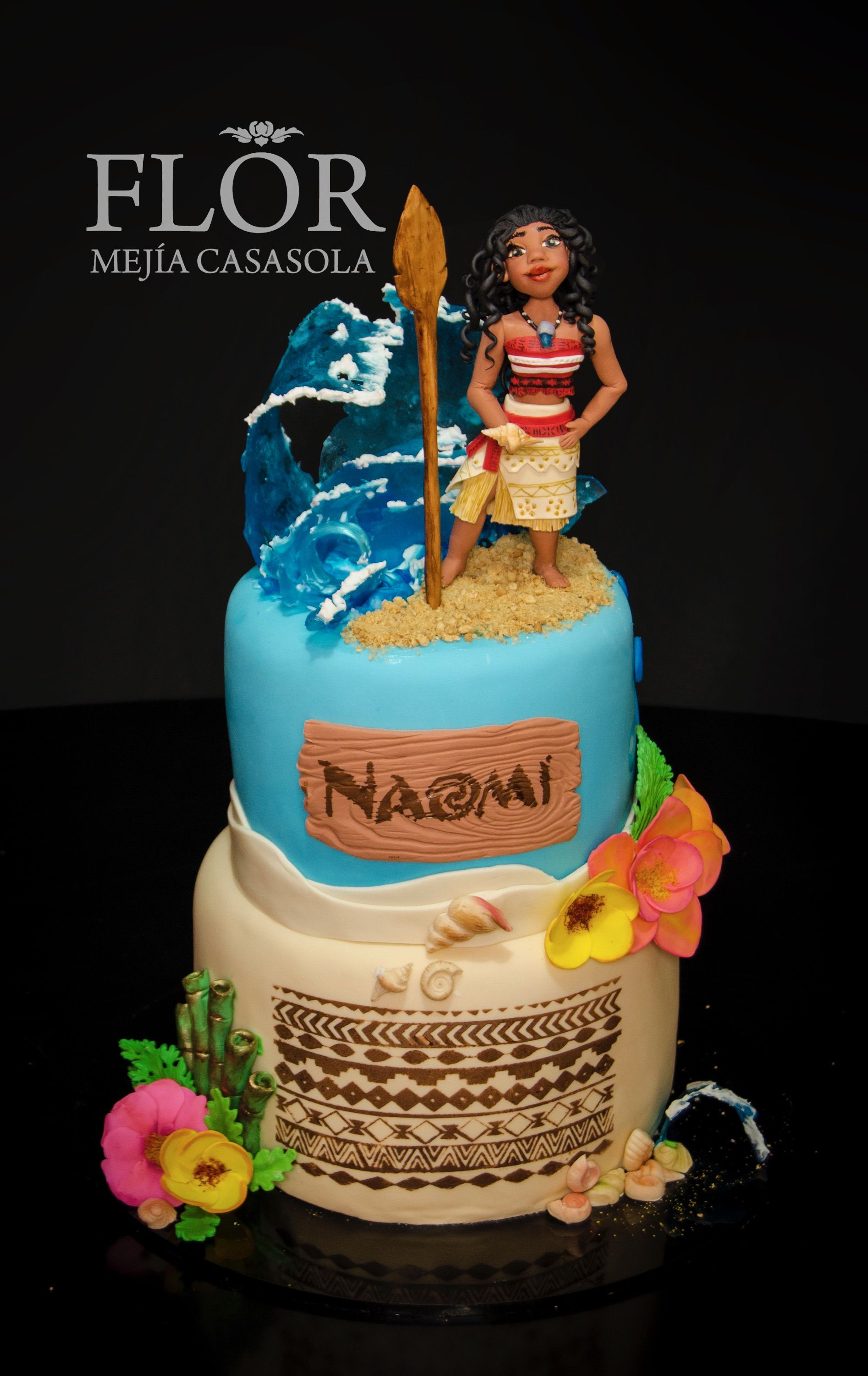 Pictures Of Baby Moana Birthday Cakes