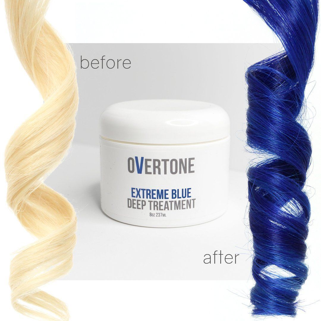 You want deep blue hair use this color depositing conditioner to
