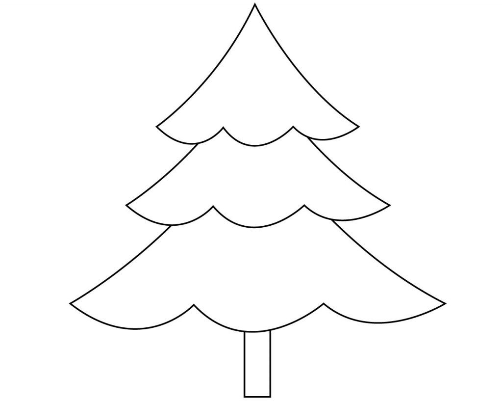 Easy Christmas Tree Coloring Pages Christmas Tree Coloring Page Christmas Tree Pictures Tree Coloring Page