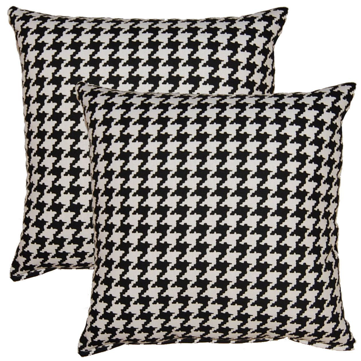 Berne Black White 17 Inch Throw Pillows Set Of 2 Throw Pillow Size 17 X 17 Polyester Check Pillow Set Throw Pillow Sets