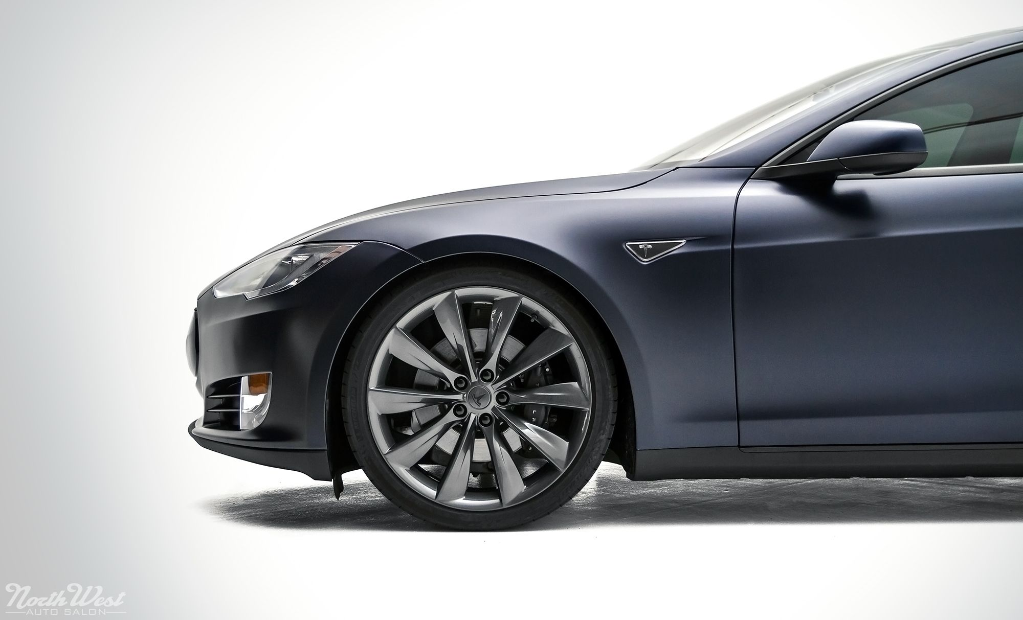 Stealth Mode Activate Tesla Model S wrapped in Satin XPEL