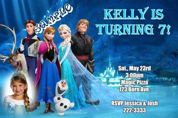 Frozen The Movie Birthday Invitations - Elsa and Anna Birthday - create invitations online free no download