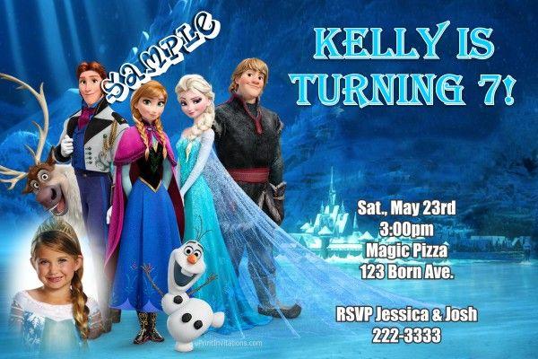 Frozen The Movie Birthday Invitations Elsa and Anna Birthday Party