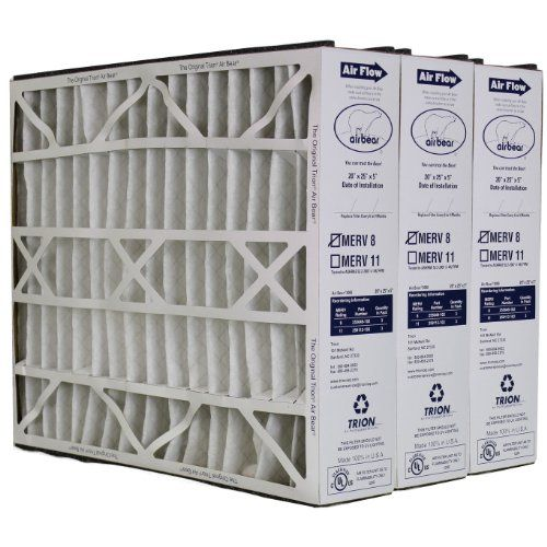 Trion Air Bear 255649 102 Replacement Filter 20x25x5 Three Per