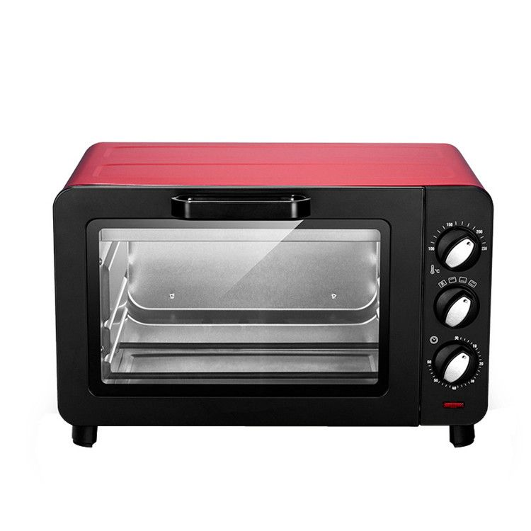 15L small household Multifunction electric oven cake baking machine mini Pizza oven temperature control function knob oven
