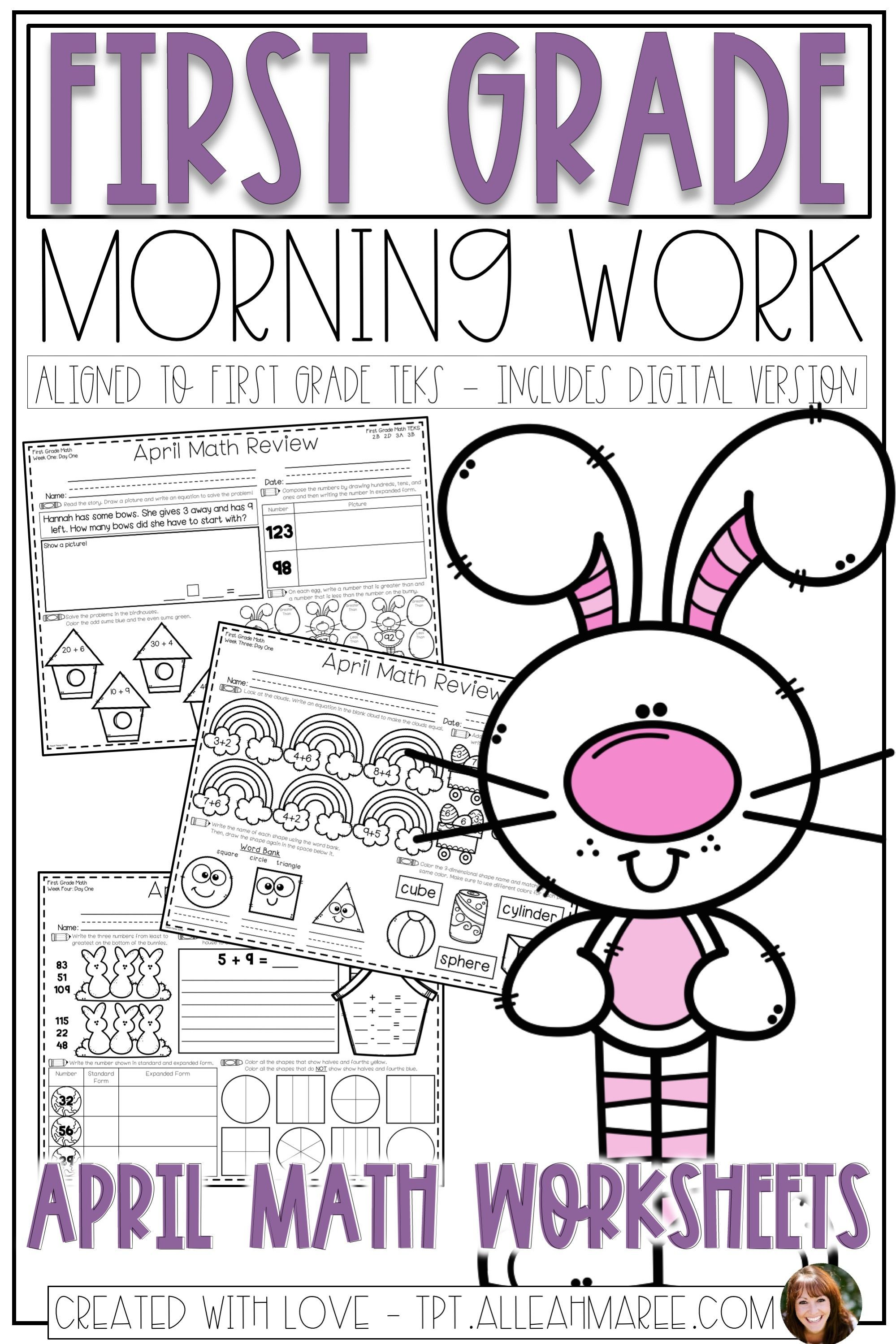 These Morning Work Worksheets Are The Perfect Math Activity For Your First Grade Students This Spring Click The Pic To Math Review Math Review Worksheets Math [ 2999 x 1999 Pixel ]
