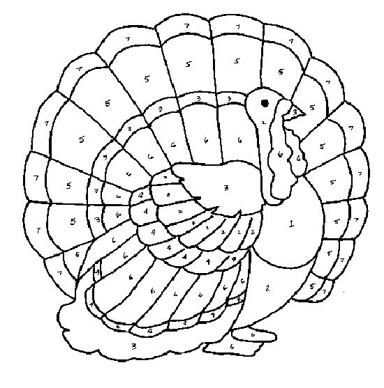 make your own color code thanksgiving turkey to pages Halloween
