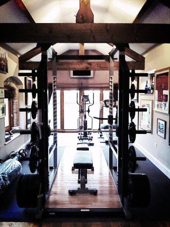 Small Home Gym Decorating Ideas Part - 32: 58 Awesome Ideas For Your Home Gym. # Rowingmachine #u200e