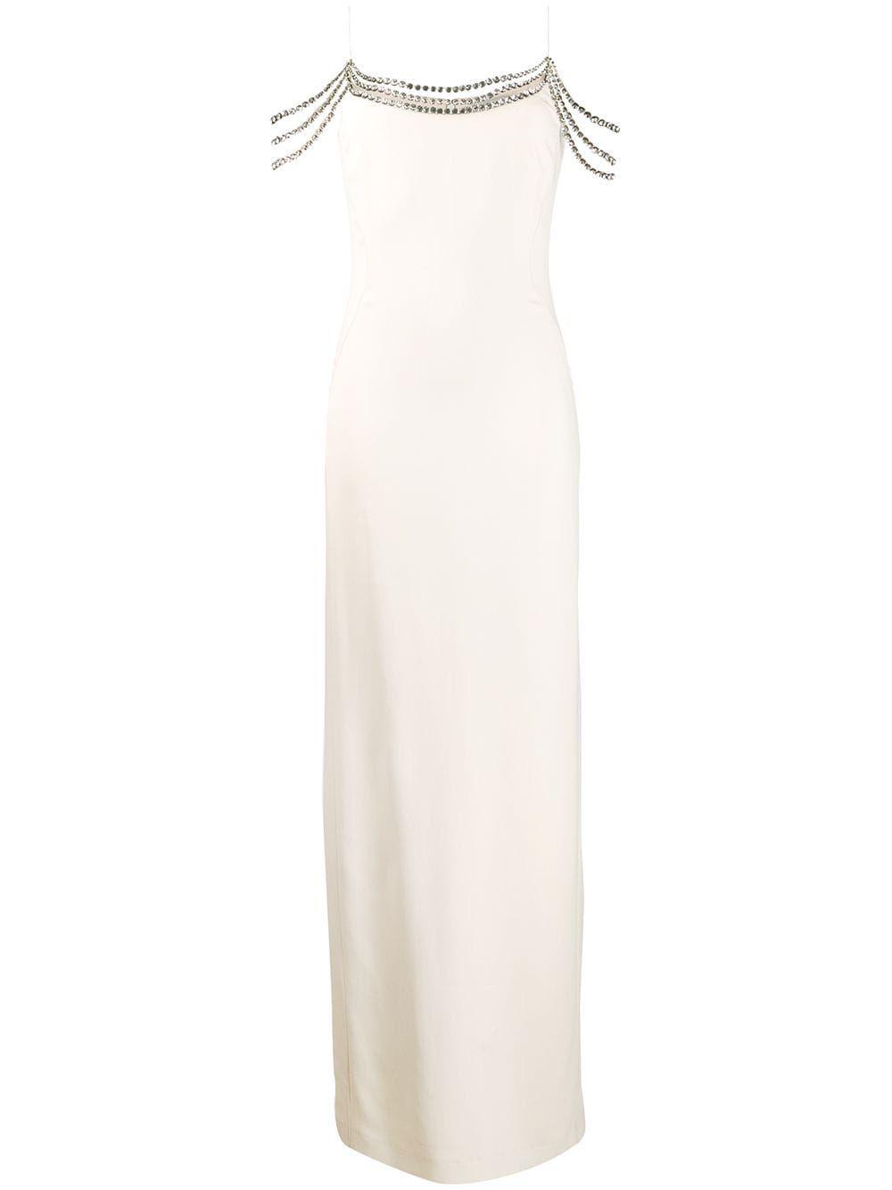Stella Mccartney Embellished Long Dress Farfetch Dresses Long Dress Long White Dress [ 1334 x 1000 Pixel ]