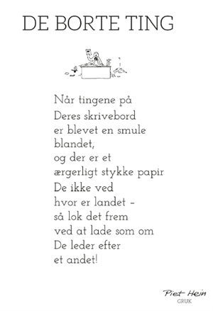 Piet Hein Gruk De Borte Ting Hoghshoppen Designmobler Interieur Og Accessories Jokes Citater Sjove Citater Livets Sandheder