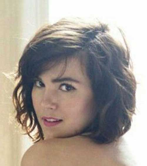 Thick Type Cute Medium Short Hair … | Frisuren, Kurze lockige ...