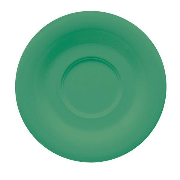 Diamond Mardi Gras 5.5 inch Saucer for C108 TM1308 and TM1208 Rainforest Green Melamine/Case of 48