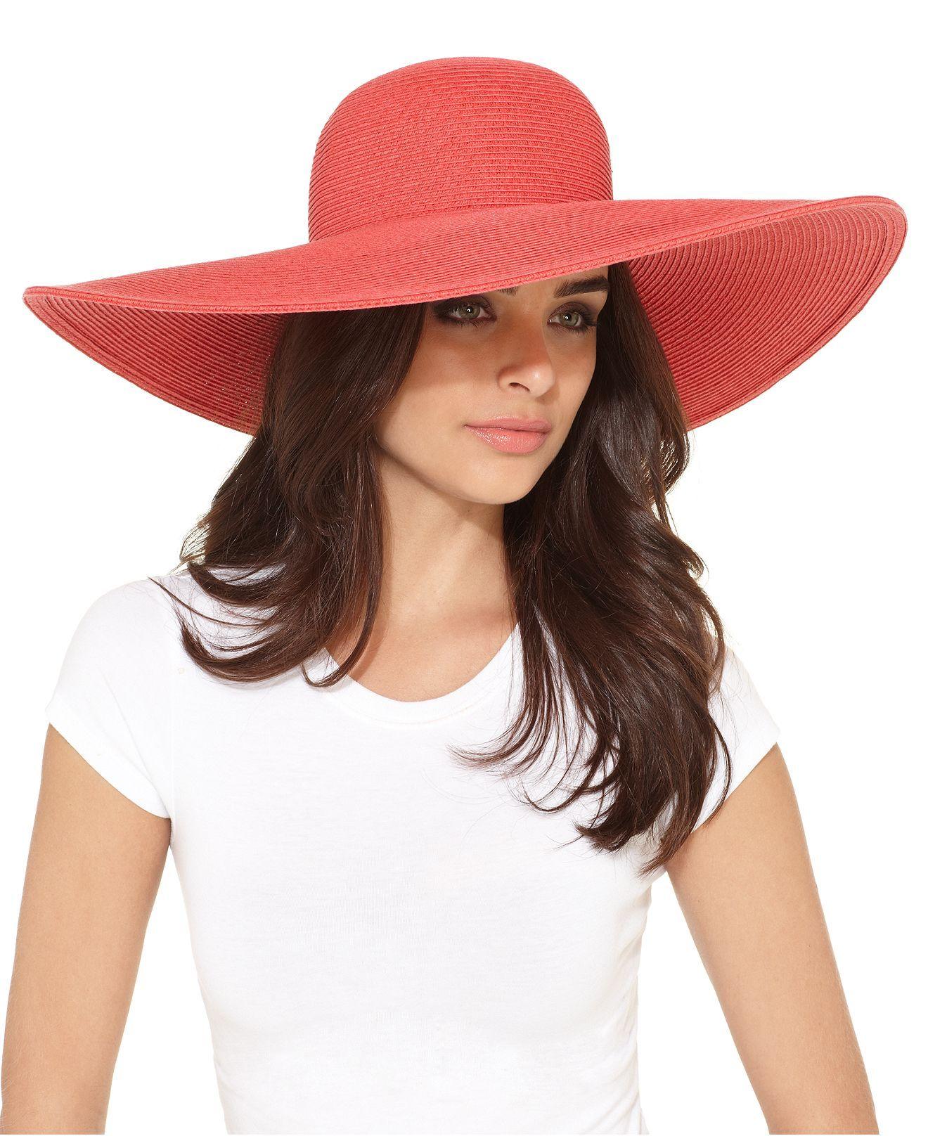 Coral Sun Hat to pair with Nikki Poulos s White Eyelet Kimono-Sleeve Maxi  Caftan!  Fashion Star ebb7a0b2af9