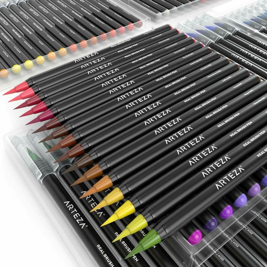 Arteza Real Brush Pens 96 Paint Markers With Flexible Brush Tips