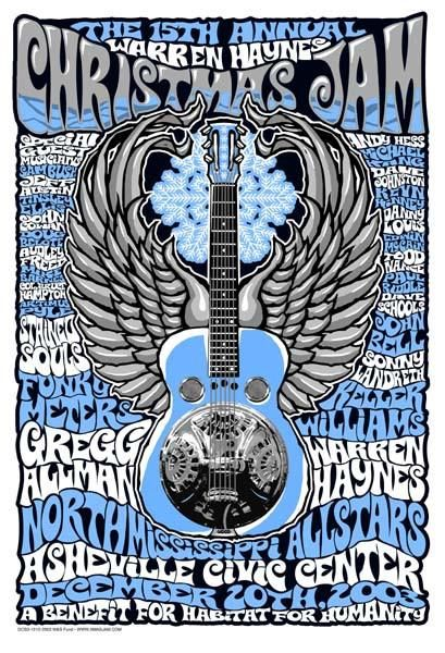 Christmas Jam 2019.2003 Warren Haynes Christmas Jam Show Poster All Kinds Of