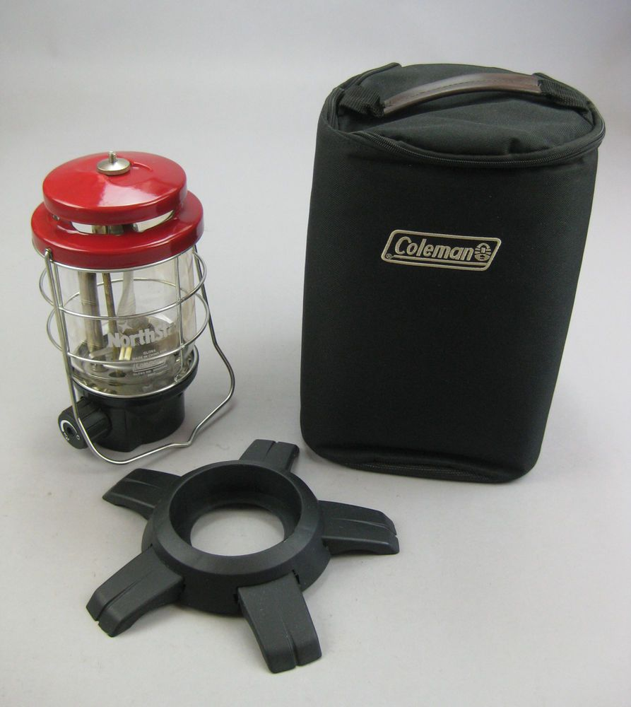 Coleman NorthStar Propane Lantern & Soft Case • Red Ventilator