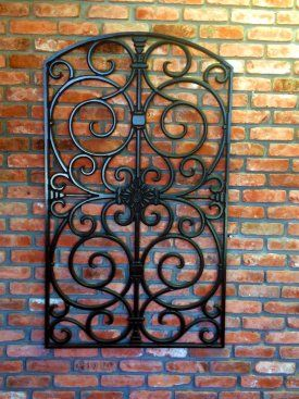Iron Pieces Walls Best Outdoor Wall Art Wrought Iron On Brick House  Google Search Design Decoration