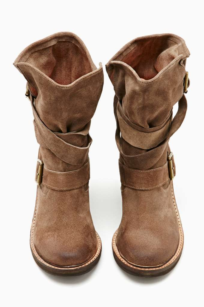 jeffrey campbell france strapped boot brown suede ordering these tomorrow except in greyl. Black Bedroom Furniture Sets. Home Design Ideas