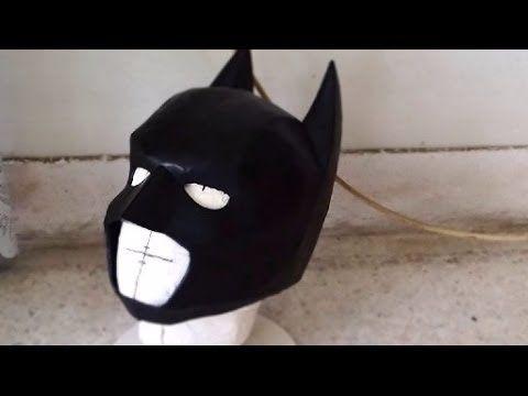 26 batman cowl diy 33 cardboard sanding painting with batman cowl diy cardboard sanding painting with template pronofoot35fo Images