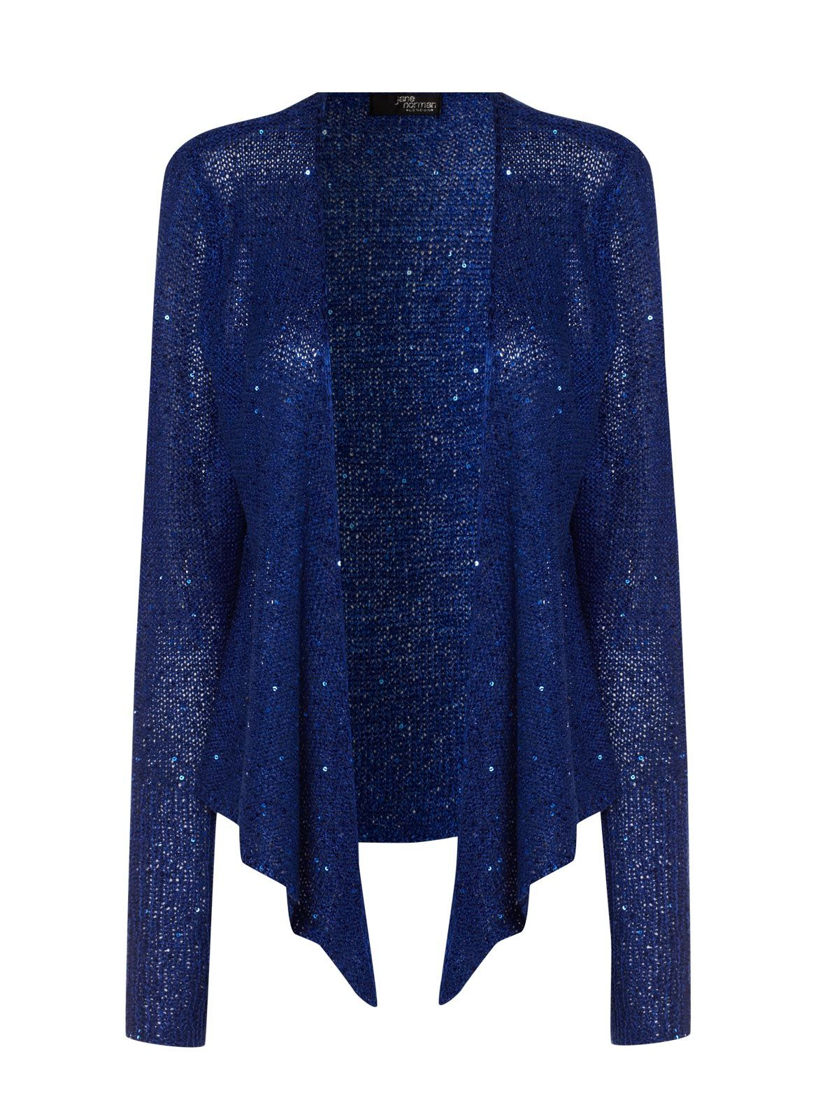 blue sequin waterfall cardigan | sweaters | Pinterest | Waterfalls ...