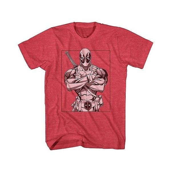 Marvel Men's Deadpool Pool Line T-Shirt Red (42 BRL) ❤ liked on Polyvore featuring men's fashion, men's clothing, red, mens clothing and men's apparel